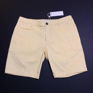Parke & Ronen Solid Stretch Madrid Shorts Cream